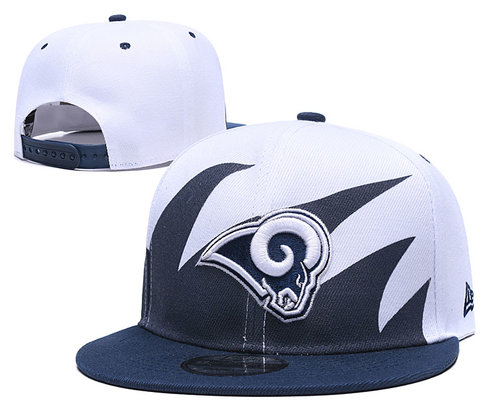 Rams Team Logo Navy White Adjustable Hat
