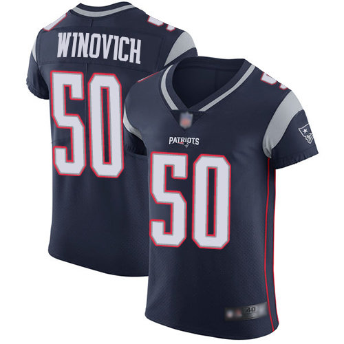 Men's New England Patriots #50 Chase Winovich Home Vapor Untouchable Elite Navy Blue Football Jersey