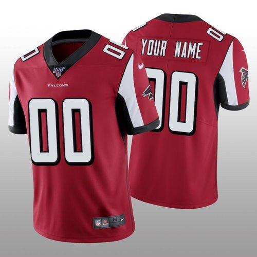 Men's Atlanta Falcons Custom Red Vapor Limited 100th Season Jersey