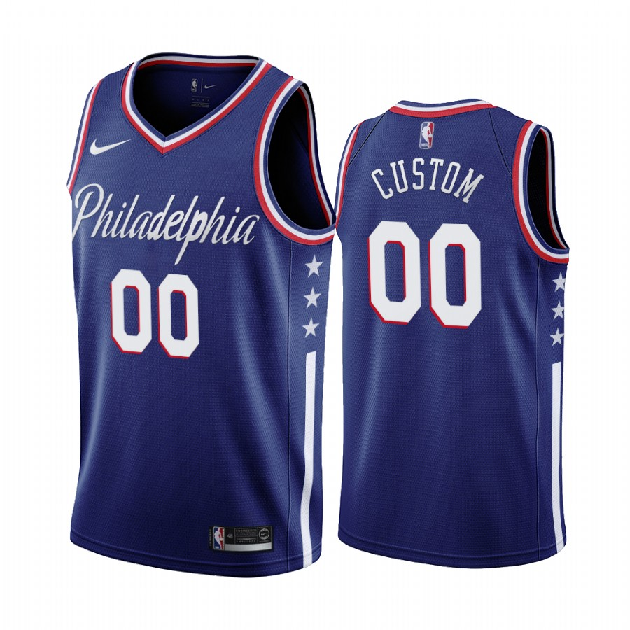 Nike 76ers Custom Navy 2019-20 City Edition Swingman NBA Jersey