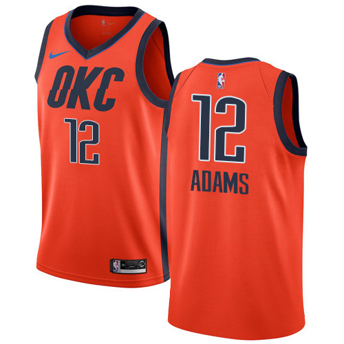 Nike Thunder #12 Steven Adams Orange NBA Swingman Earned Edition Jersey