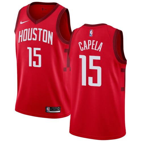Nike Rockets #15 Clint Capela Red NBA Swingman Earned Edition Jersey