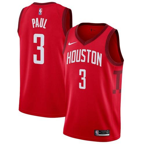 Nike Rockets #3 Chris Paul Red NBA Swingman Earned Edition Jersey