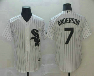 Men's Chicago White Sox #7 Tim Anderson White Stitched MLB Cool Base Jersey