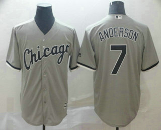 Men's Chicago White Sox #7 Tim Anderson Gray Stitched MLB Cool Base Jersey
