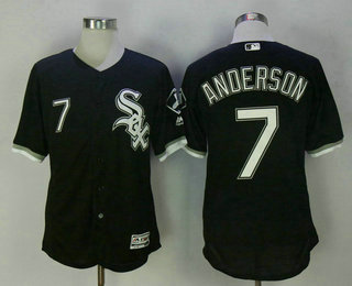 Men's Chicago White Sox #7 Tim Anderson Black Stitched MLB Flex Base Jersey