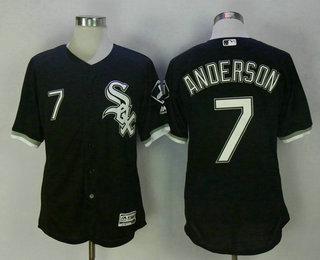 Men's Chicago White Sox #7 Tim Anderson Black Stitched MLB Flex Base Jersey