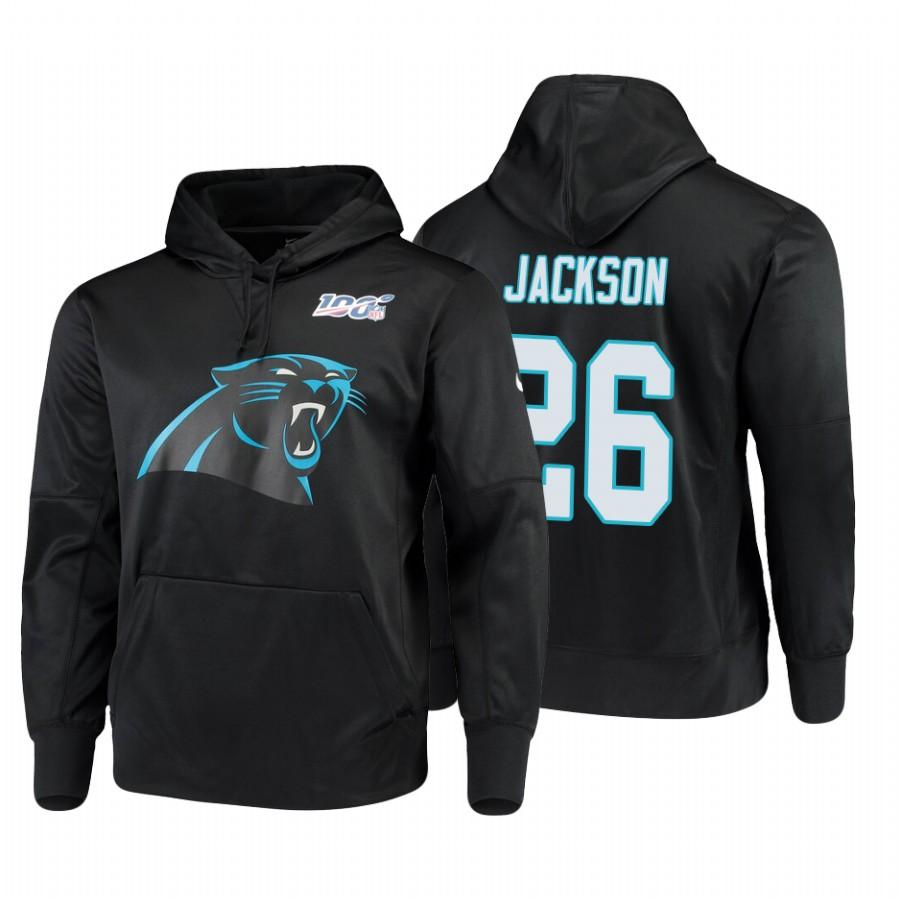 Carolina Panthers #26 Donte Jackson Nike NFL 100 Primary Logo Circuit Name & Number Pullover Hoodie Black