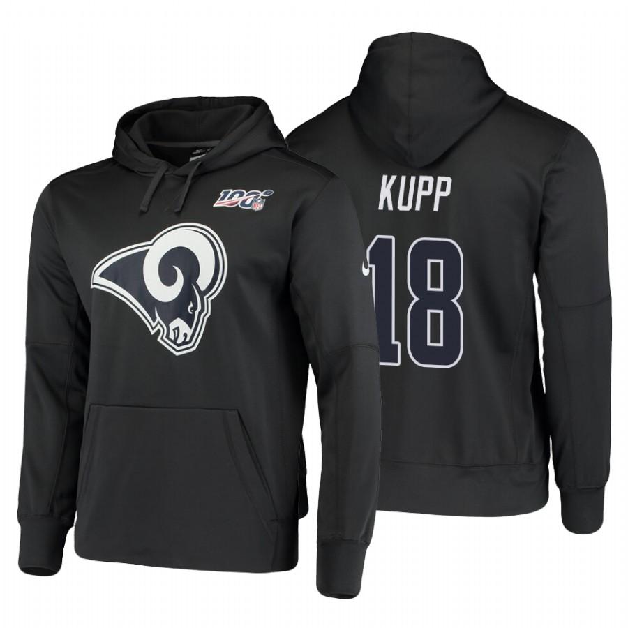 Los Angeles Rams #18 Cooper Kupp Nike NFL 100 Primary Logo Circuit Name & Number Pullover Hoodie Charcoal