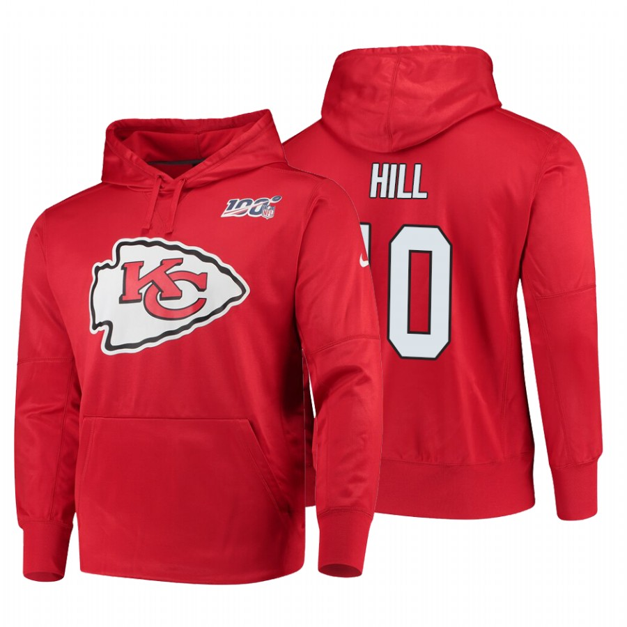 Kansas City Chiefs #10 Tyreek Hill Nike NFL 100 Primary Logo Circuit Name & Number Pullover Hoodie Red