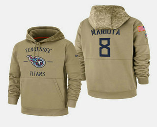 Men's Tennessee Titans #8 Marcus Mariota 2019 Salute to Service Sideline Therma Hoodie