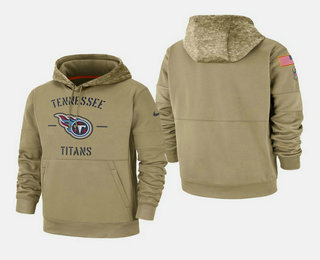 Men's Tennessee Titans 2019 Salute to Service Sideline Therma Pullover Hoodie