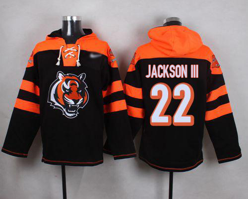 Nike Bengals #22 William Jackson III Black Player Pullover NFL Hoodie