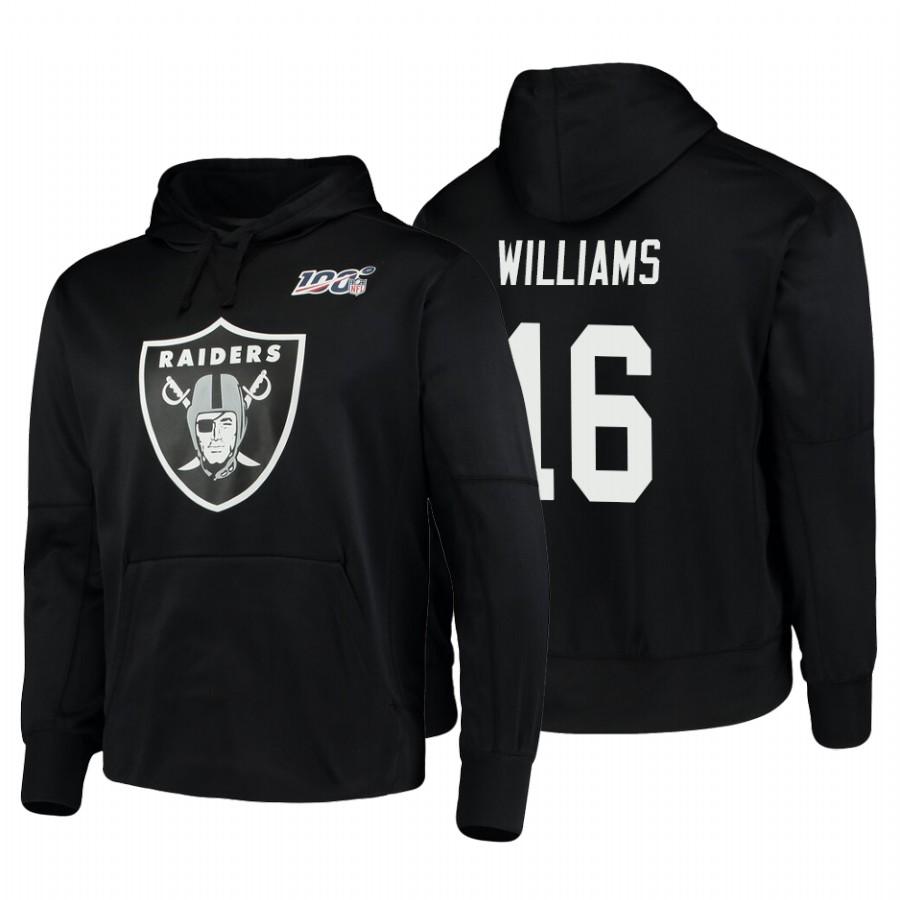 Oakland Raiders #16 Tyrell Williams Nike NFL 100 Primary Logo Circuit Name & Number Pullover Hoodie Black