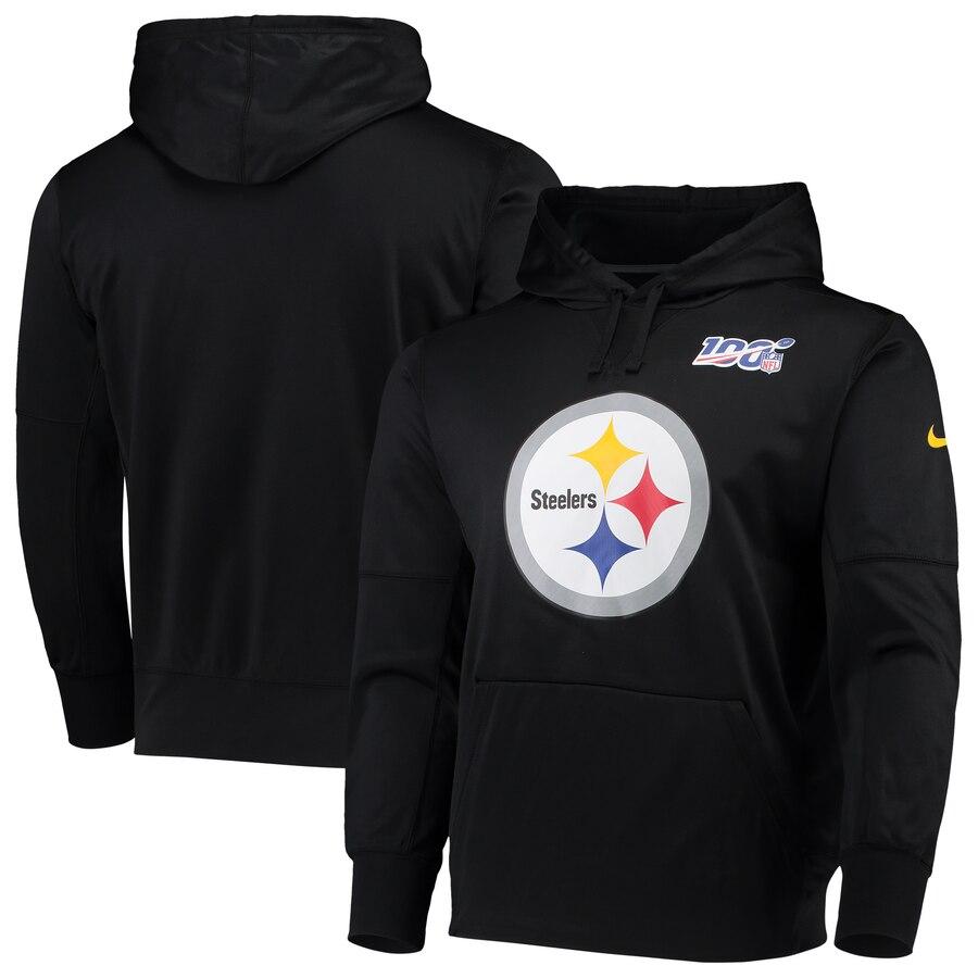 Pittsburgh Steelers Nike NFL 100 Primary Logo Circuit Performance Pullover Hoodie Black