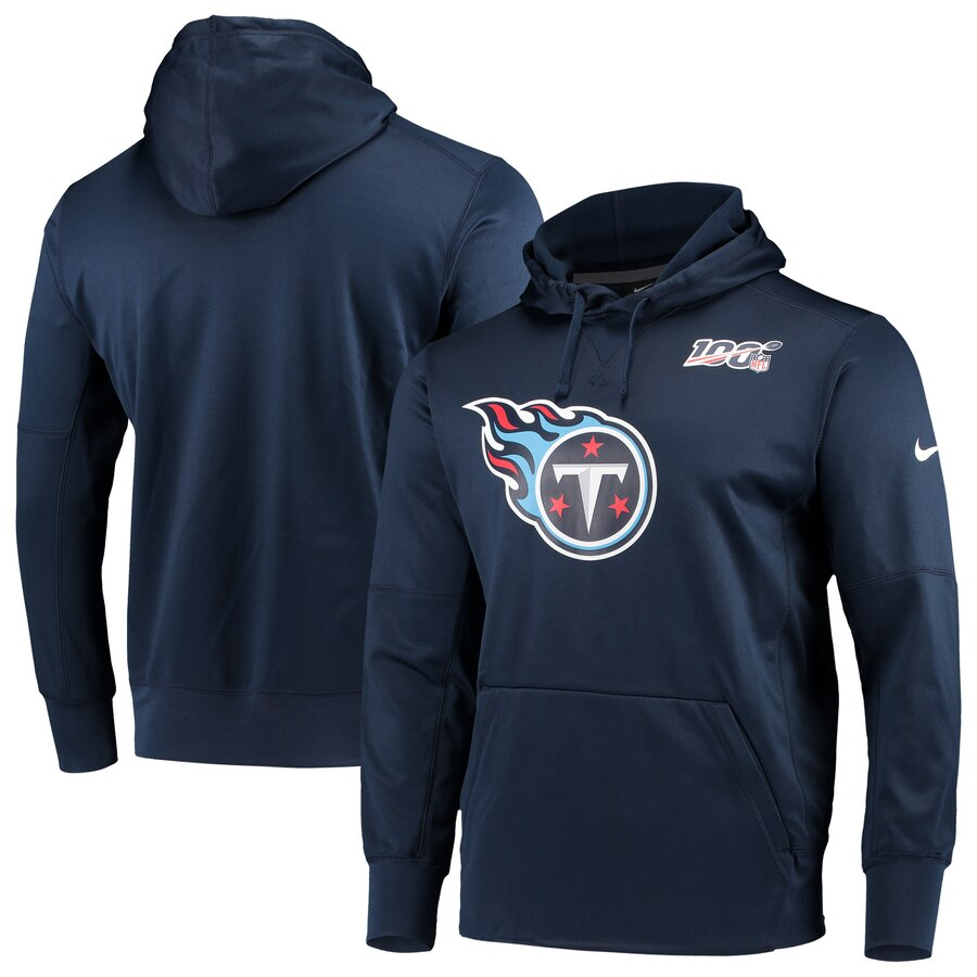 Tennessee Titans Nike NFL 100 Primary Logo Circuit Performance Pullover Hoodie Navy
