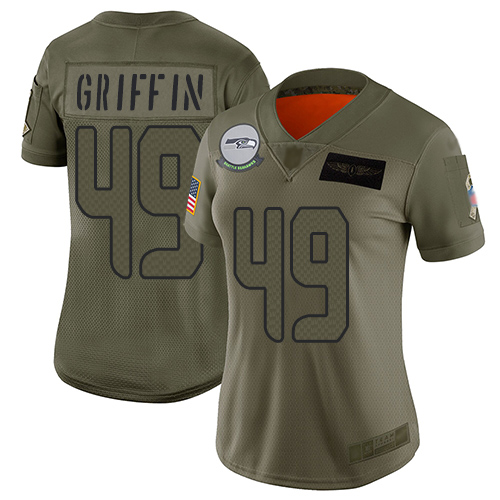 Nike Seahawks #49 Shaquem Griffin Camo Women's Stitched NFL Limited 2019 Salute to Service Jersey