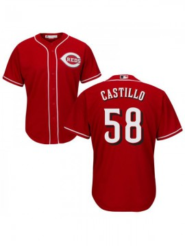 Kid's Cincinnati Reds #58 Authentic Red Alternate Cool Base Jersey