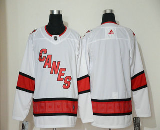 Men's Carolina Hurricanes Blank White NEW 2019 Adidas Stitched NHL Jersey