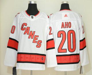 Men's Carolina Hurricanes #20 Sebastian Aho White NEW 2019 Adidas Stitched NHL Jersey