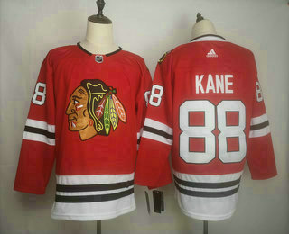 Men's Chicago Blackhawks #88 Patrick Kane adidas Home Authentic Red Player Jersey