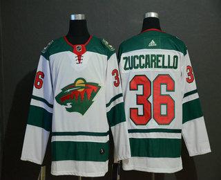 Men's Minnesota Wild #36 Mats Zuccarello Adidas Stitched NHL Jersey
