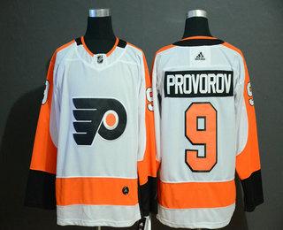 Men's Philadelphia Flyers #9 Ivan Provorov White Adidas Stitched NHL Jersey
