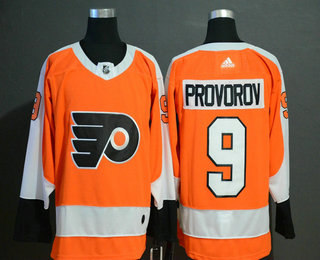 Men's Philadelphia Flyers #9 Ivan Provorov Orange Adidas Stitched NHL Jersey