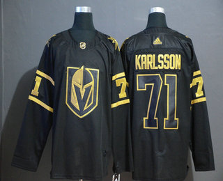 Men's Vegas Golden Knights #71 William Karlsson Black Golden Adidas Stitched NHL Jersey