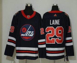 Men's Winnipeg Jets #29 Patrik Laine Navy Blue 2019 Heritage Classic Adidas Stitched NHL Jersey