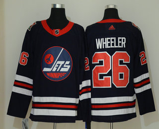 Men's Winnipeg Jets #26 Blake Wheeler Navy Blue 2019 Heritage Classic Adidas Stitched NHL Jersey