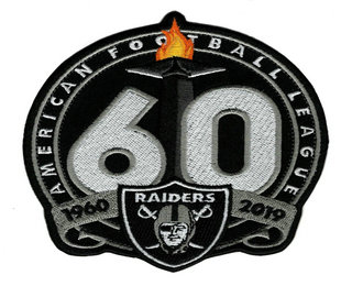 Oakland Raiders 1960-2019 60th Anniversary Patch
