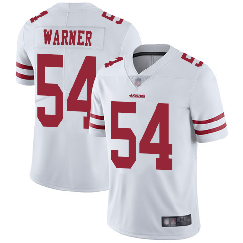 Men's San Francisco 49ers #54 Fred Warner White Vapor Untouchable Limited Player Football Jersey