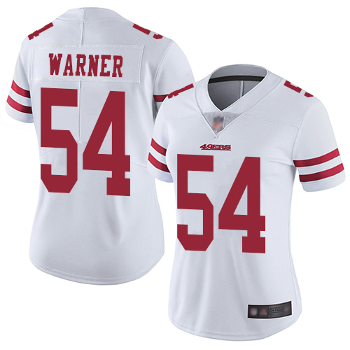Women's San Francisco 49ers #54 Fred Warner White Vapor Untouchable Limited Player Football Jersey