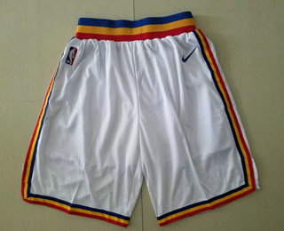 Men's Golden State Warriors White Hardwood Classics Soul Swingman Throwback Shorts