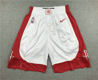 Men's Houston Rockets New White 2019 Nike Swingman Stitched NBA Shorts