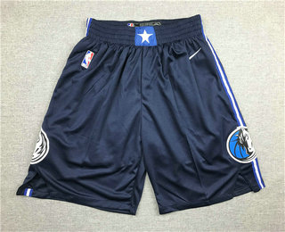 Men's Dallas Mavericks NEW Navy Blue 2020 NBA Swingman Stitched NBA Shorts