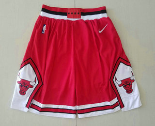 Men's Chicago Bulls Red 2019 Nike Swingman Stitched NBA Shorts