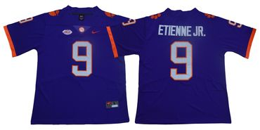 Men's Nike Clemson Tigers #9 Travis Etienne Jr Purple Team Color 2019 New Limited Football Jersey
