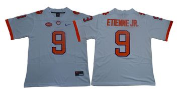 Men's Nike Clemson Tigers #9 Travis Etienne Jr White Team Color 2019 New Limited Football Jersey
