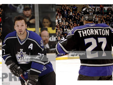 Los Angeles Kings #27 Scott Thornton Black Third Jersey