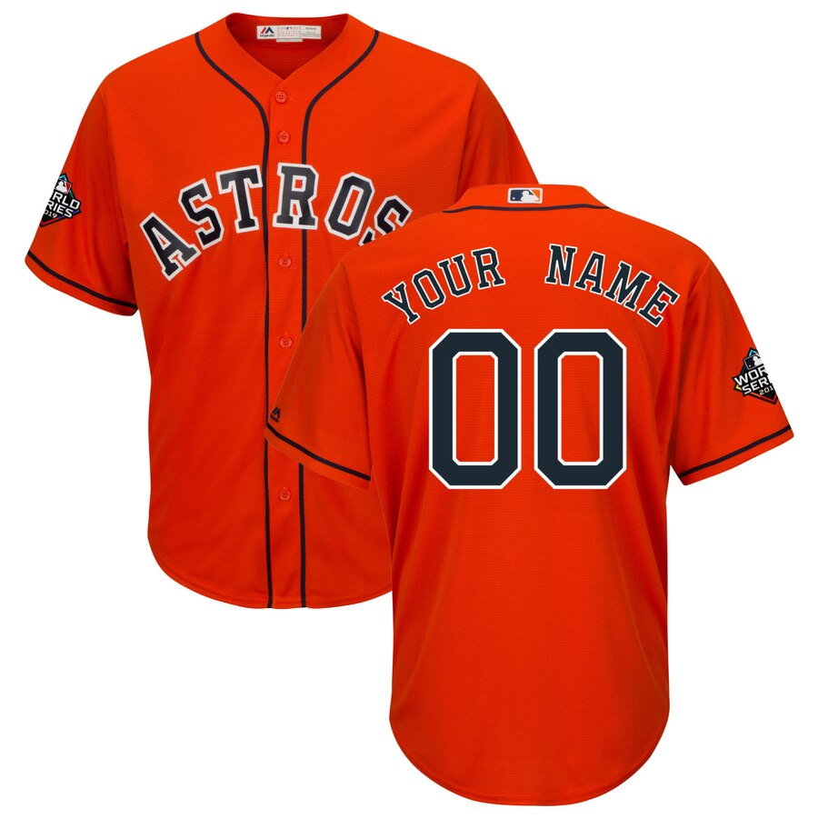 Houston Astros Majestic 2019 World Series Bound Official Cool Base Custom Orange Jersey