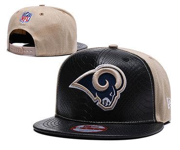 NFL Los Rams Team Logo Navy Adjustable Hat YD
