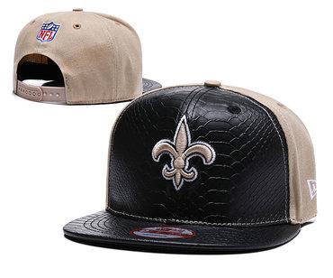 NFL New Orleans Saints Team Logo Black Adjustable Hat YD