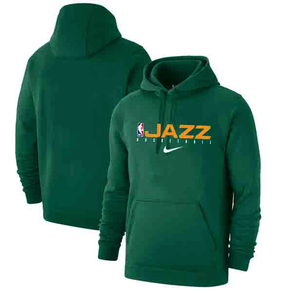 Utah Jazz Nike Spotlight Practice Performance Pullover Hoodie Green
