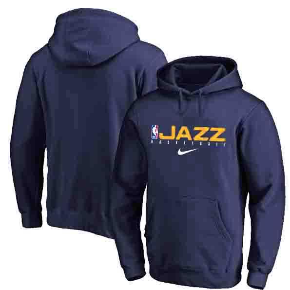 Utah Jazz Nike Spotlight Practice Performance Pullover Hoodie Navy