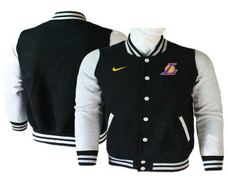 Men's Los Angeles Lakers Black Stitched NBA Jacket