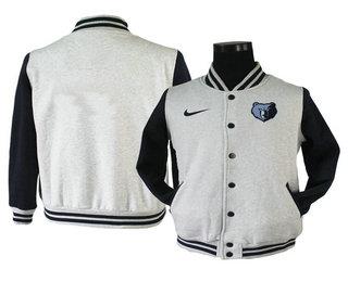 Men's Memphis Grizzlies Gray Stitched NBA Jacket