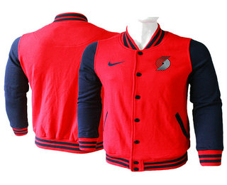 Men's Portland Trail Blazers Red Stitched NBA Jacket