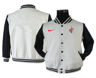 Men's Cleveland Cavaliers Gray Stitched NBA Jacket